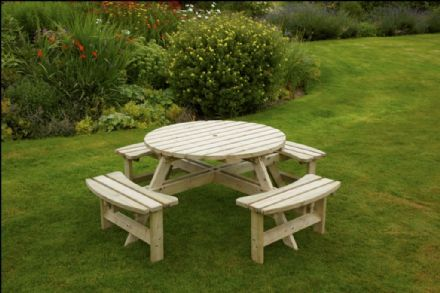 Anchor Fast Devon Round Picnic Bench - pressure treated